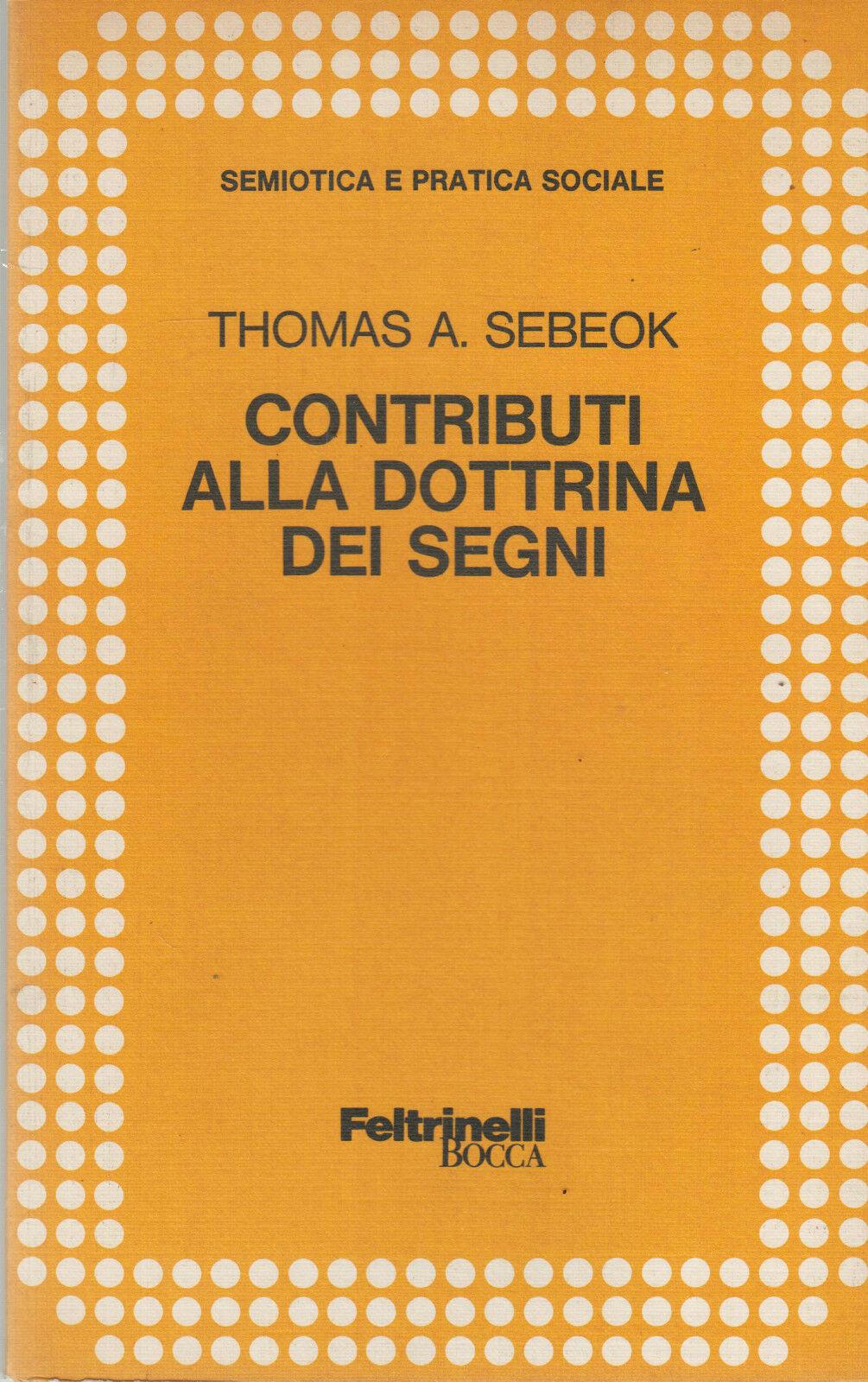 Contributi alla dottrina dei segni
