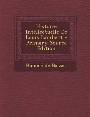 Histoire Intellectuelle de Louis Lambert