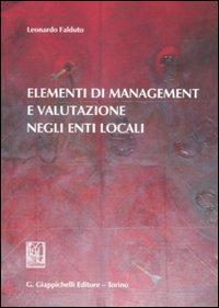Elementi di management e valutazione negli enti locali