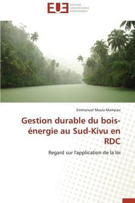 Gestion Durable du Bois-Energie au Sud-Kivu en Rdc