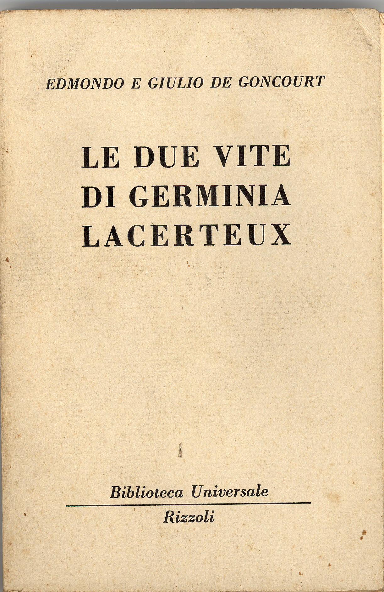 Le due vite di Germinia Lacerteux