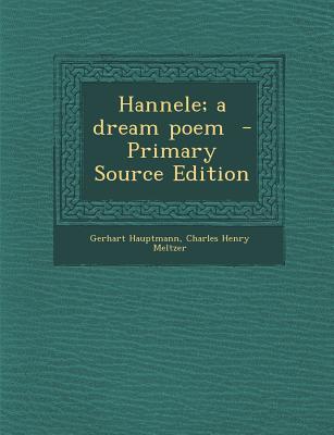 Hannele; A Dream Poem