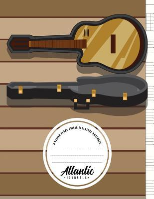 6 String Blank Guitar Tablature Notebook - Maple On Oak