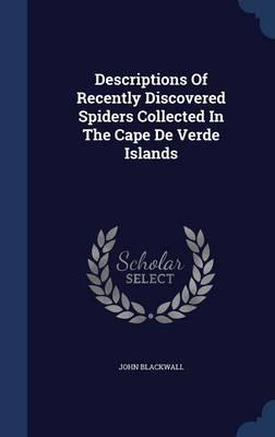 Descriptions of Recently Discovered Spiders Collected in the Cape de Verde Islands