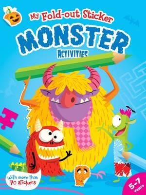 Fold out sticker monster activities