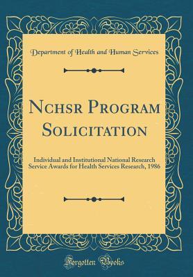 Nchsr Program Solicitation