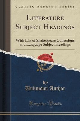 Literature Subject Headings