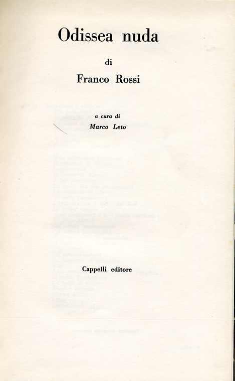 Odissea nuda di Franco Rossi