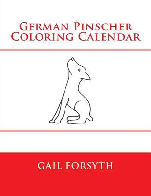 German Pinscher Coloring Calendar