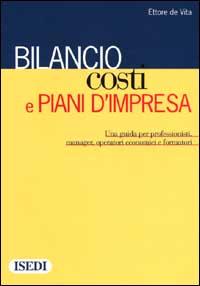 Bilancio, costi e piani d'impresa