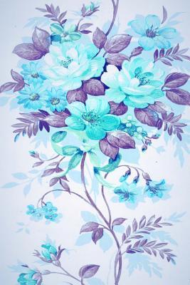 Floral Blue Bouquet Journal