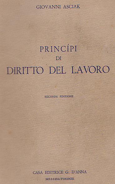 Principi di Diritto del Lavoro