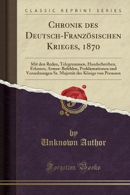 Chronik des Deutsch-Französischen Krieges, 1870