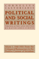 Cornelius Castoriadis, Political and Social Writings