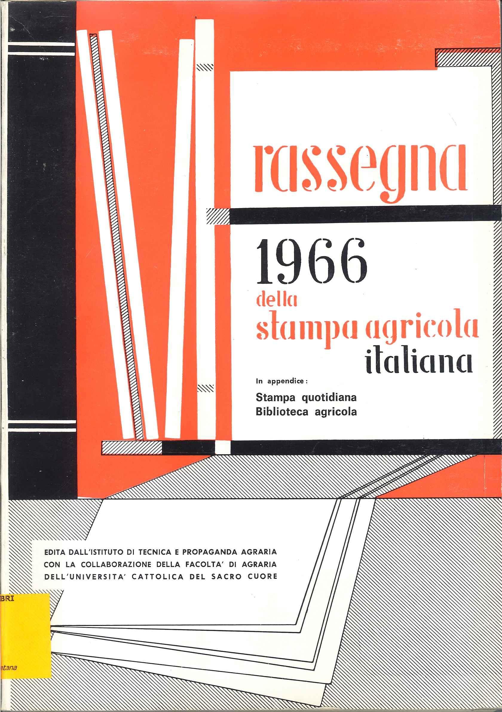 Rassegna 1966 della stampa agricola italiana