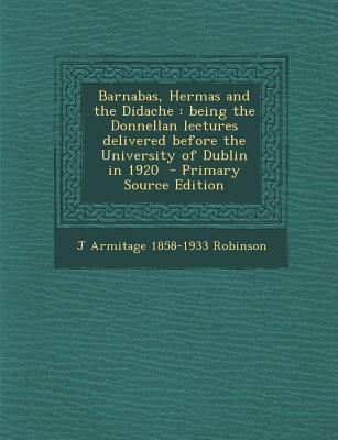Barnabas, Hermas and...