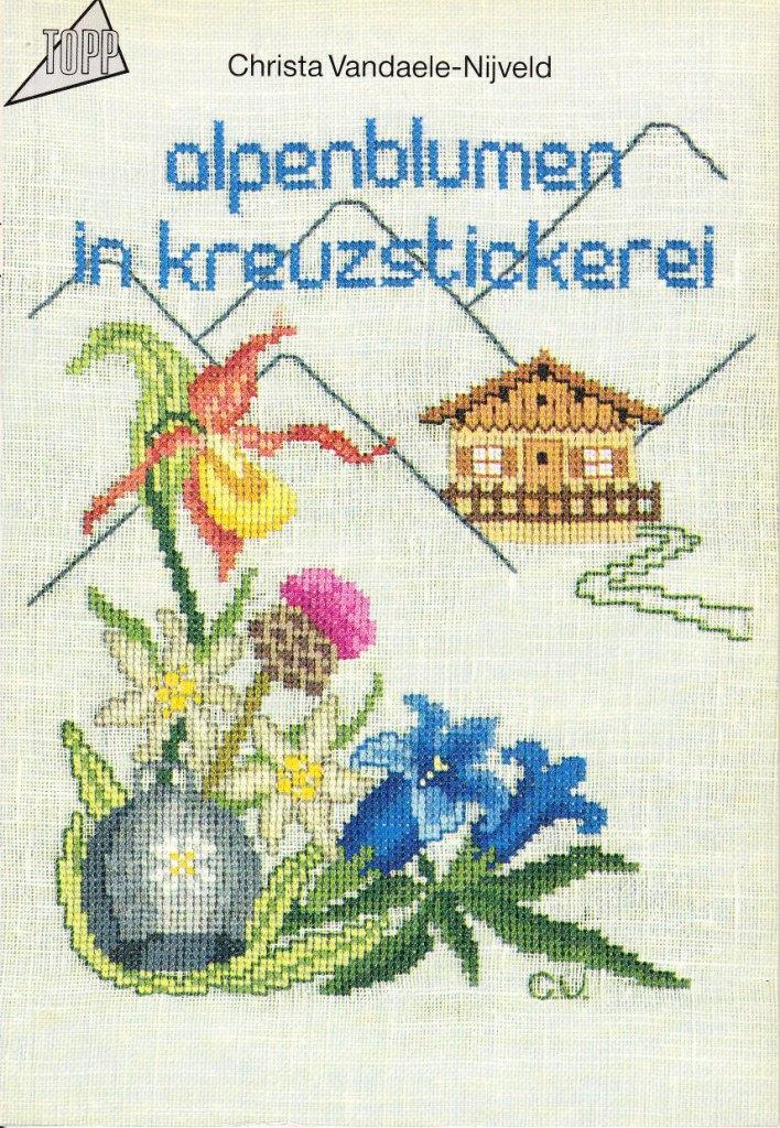 Alpenblumen in Kreuzstickerei