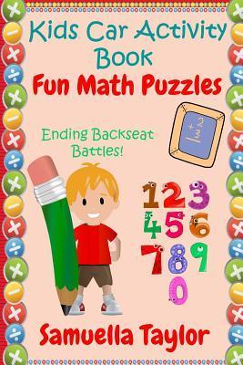 Kids Car Activity Book - Fun Math Puzzles