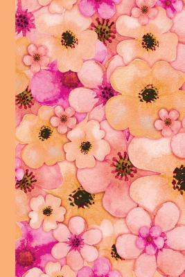Watercolor Flower Petals Orange Journal