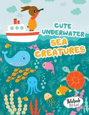 Cute Underwater Sea Creatures Dot Grid Notebook