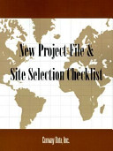 New project file and site selection checklist