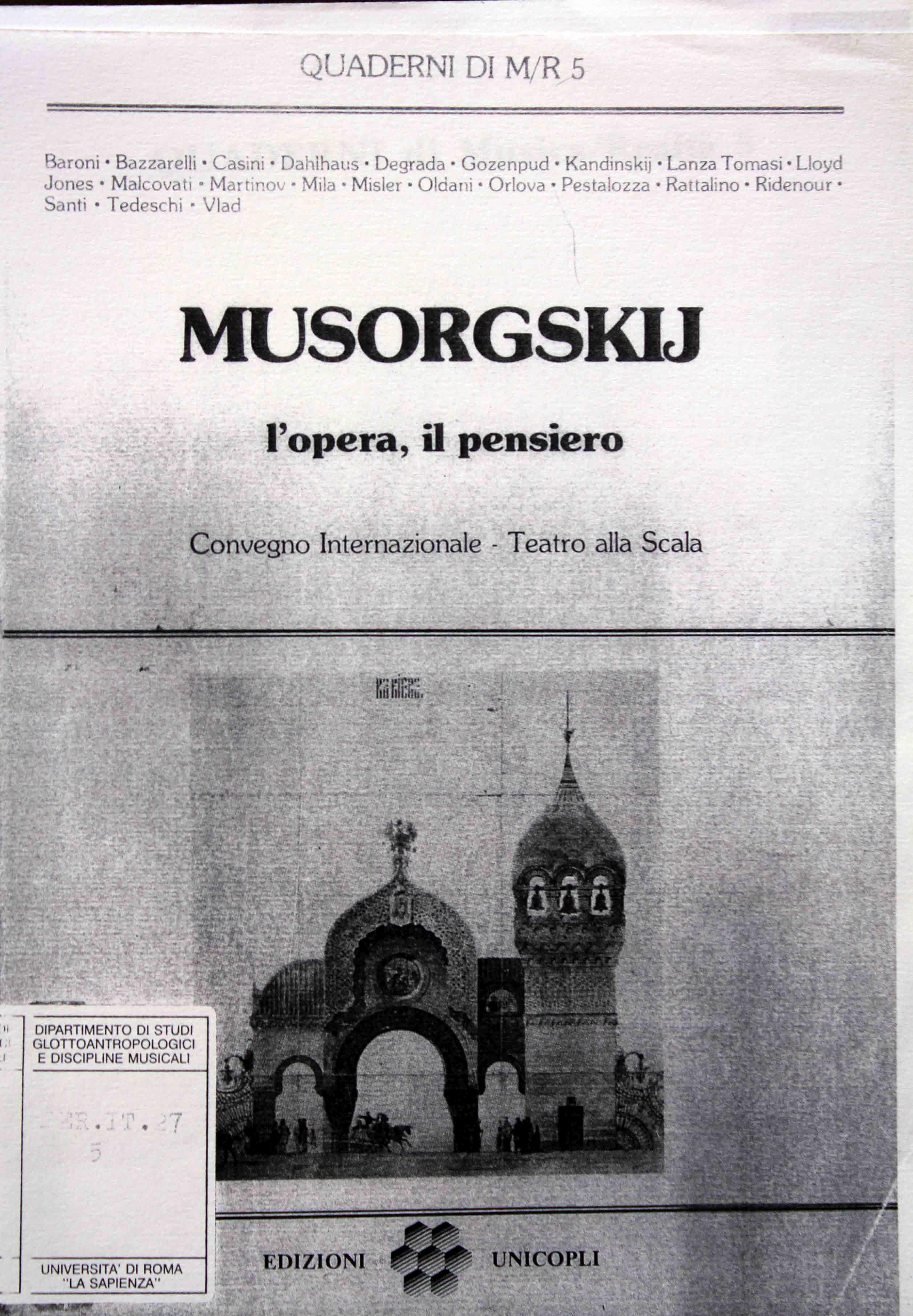 Musorgskij, l'opera, il pensiero