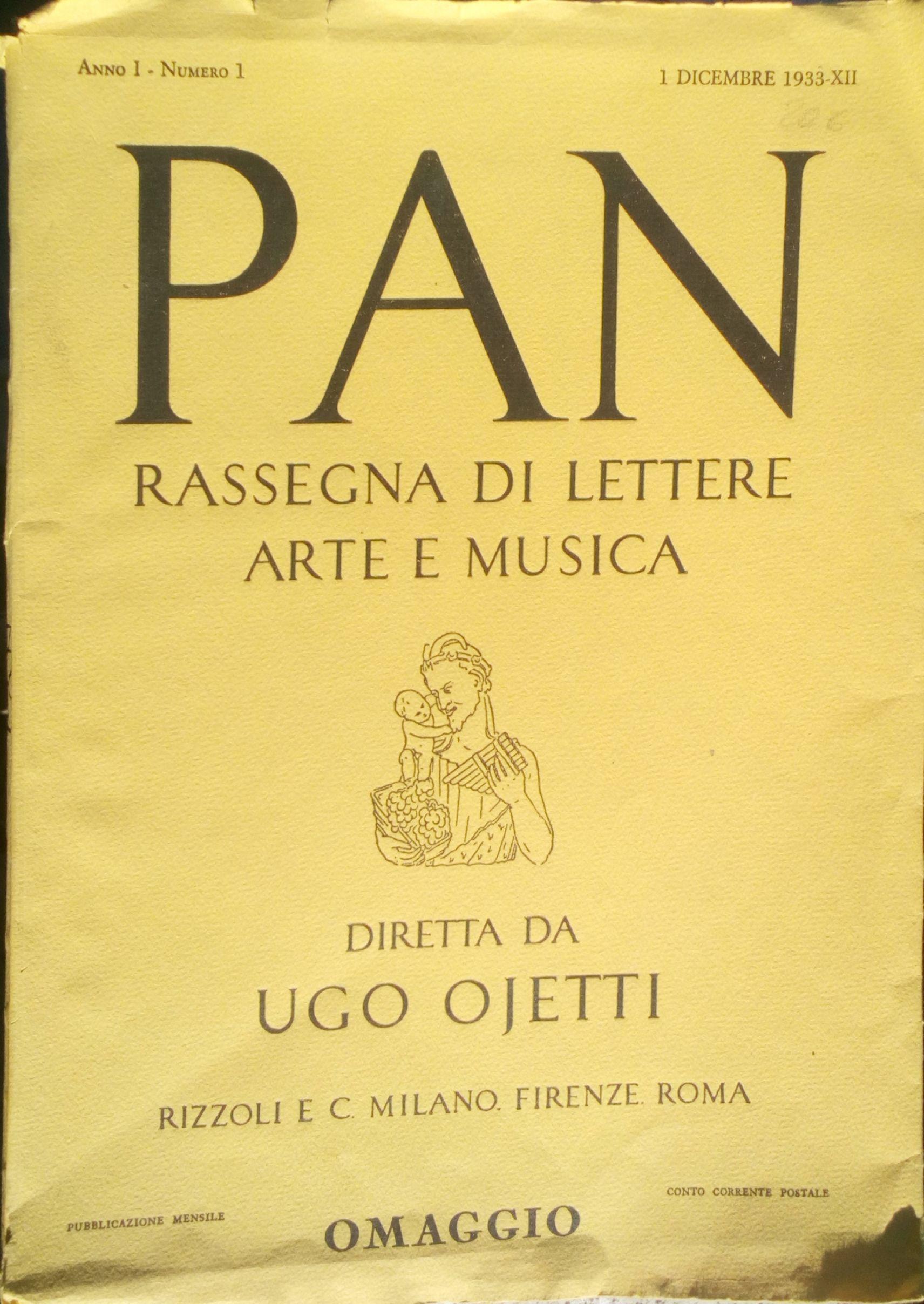 Pan - A.1 n.1 (dicembre 1933)