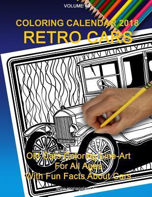 Coloring Calendar 2018; Retro Cars
