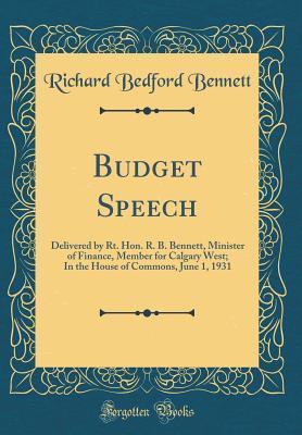 Budget Speech