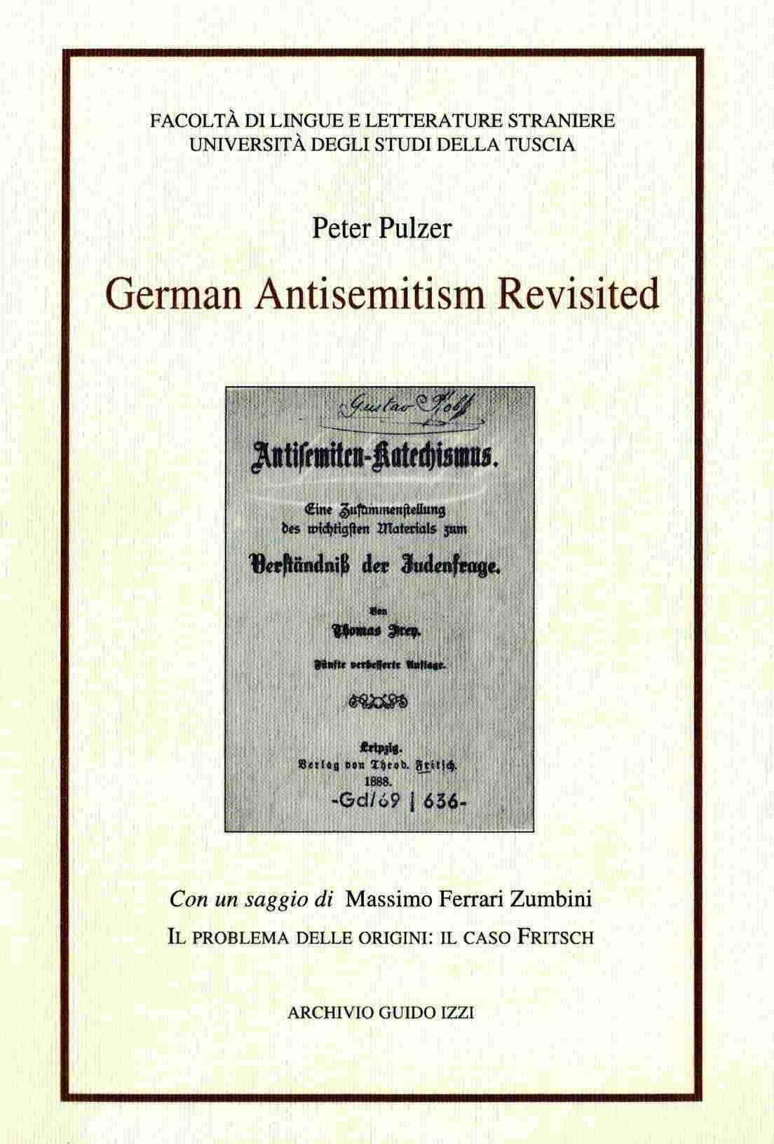 German antisemitism revisited