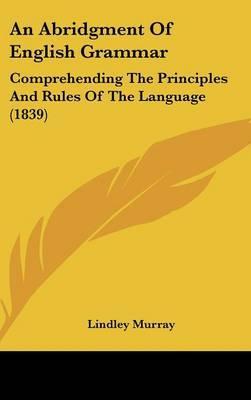 An Abridgment Of English Grammar