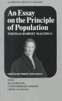 Essay on the Princip...
