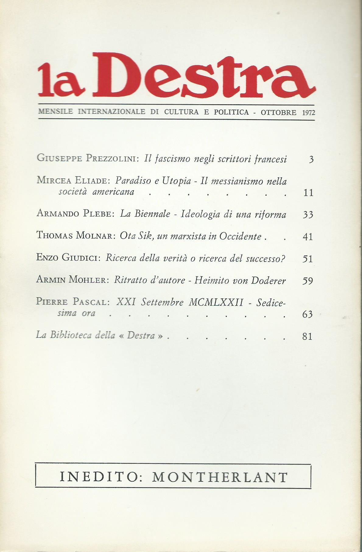 La Destra - Anno II n. 10