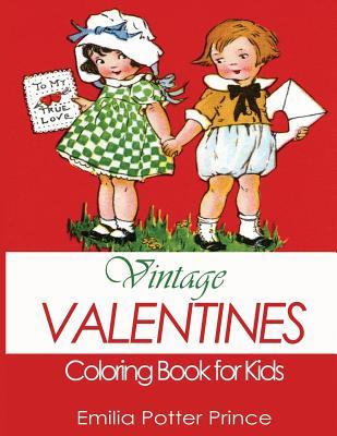 Vintage Valentines Coloring Book for Kids