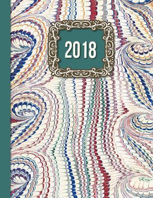 2018 Diary Teal Framed Design