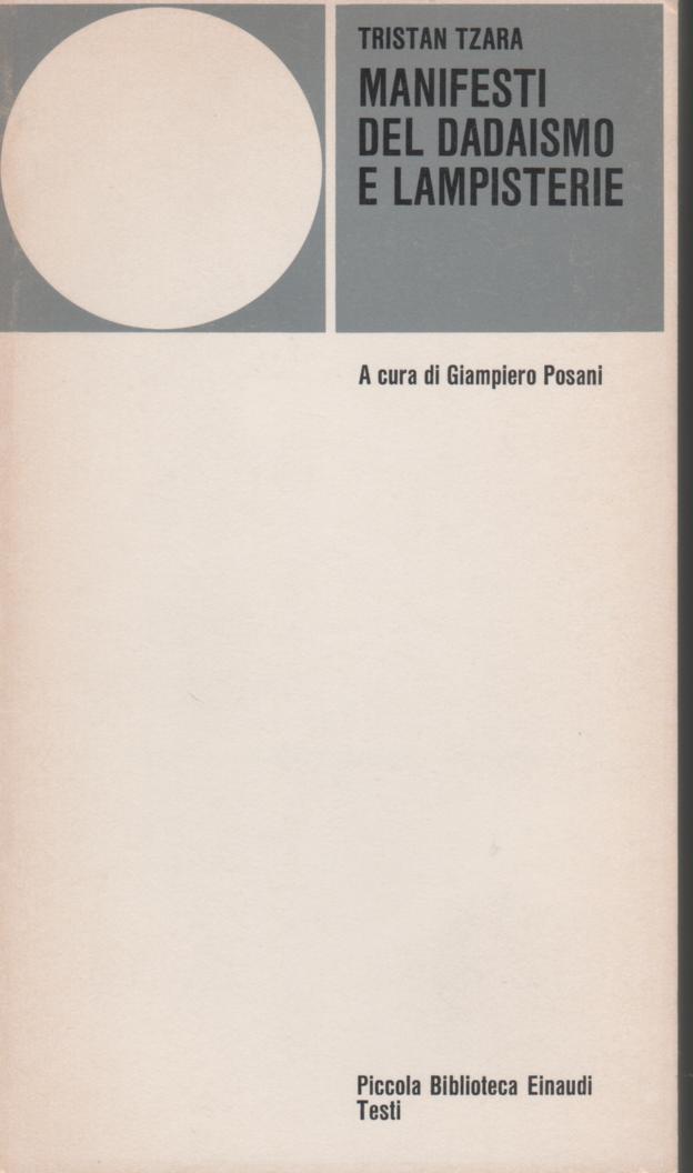 Manifesti del dadaismo e Lampisterie