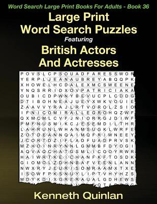 Word Search Puzzles Featuring British Actors and Actresses