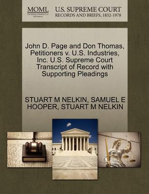John D. Page and Don Thomas, Petitioners V. U.S. Industries, Inc. U.S. Supreme Court Transcript of Record with Supporting Pleadings