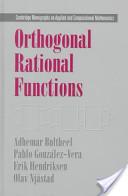 Orthogonal Rational Functions
