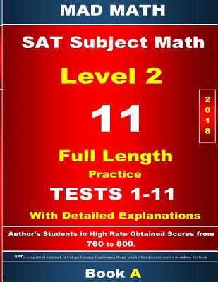 2018 Sat Subject Math Level 2 Book a Tests 1-11