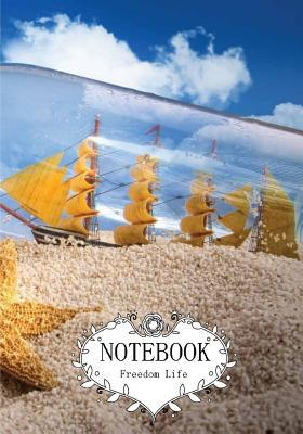 Boat in the Bottle With Starfish Notebook