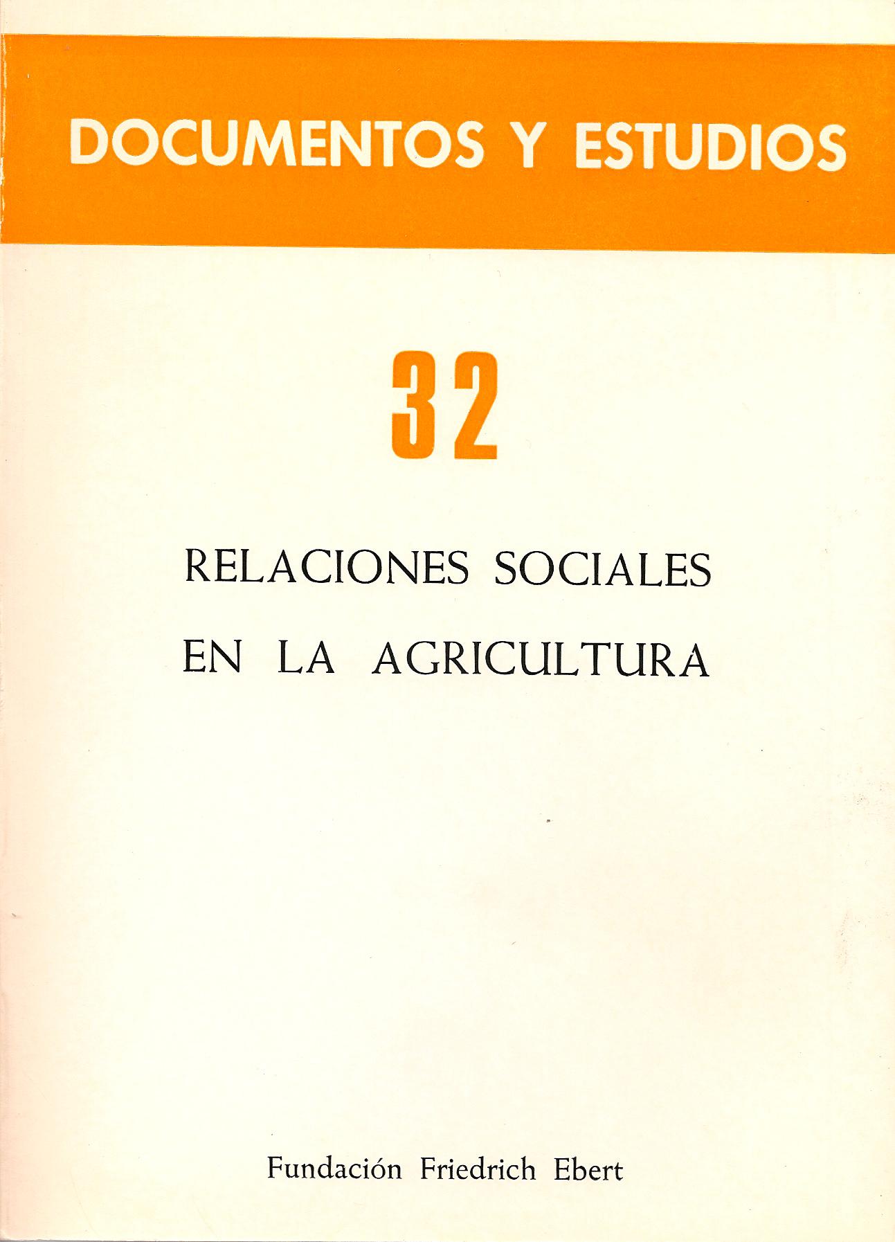 Relaciones sociales en la agricultura