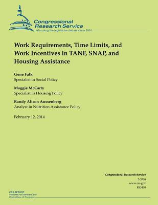 Work Requirements, Time Limits, and Work Incentives in Tanf, Snap, and Housing Assistance