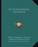 Of Astronomical Geomancy