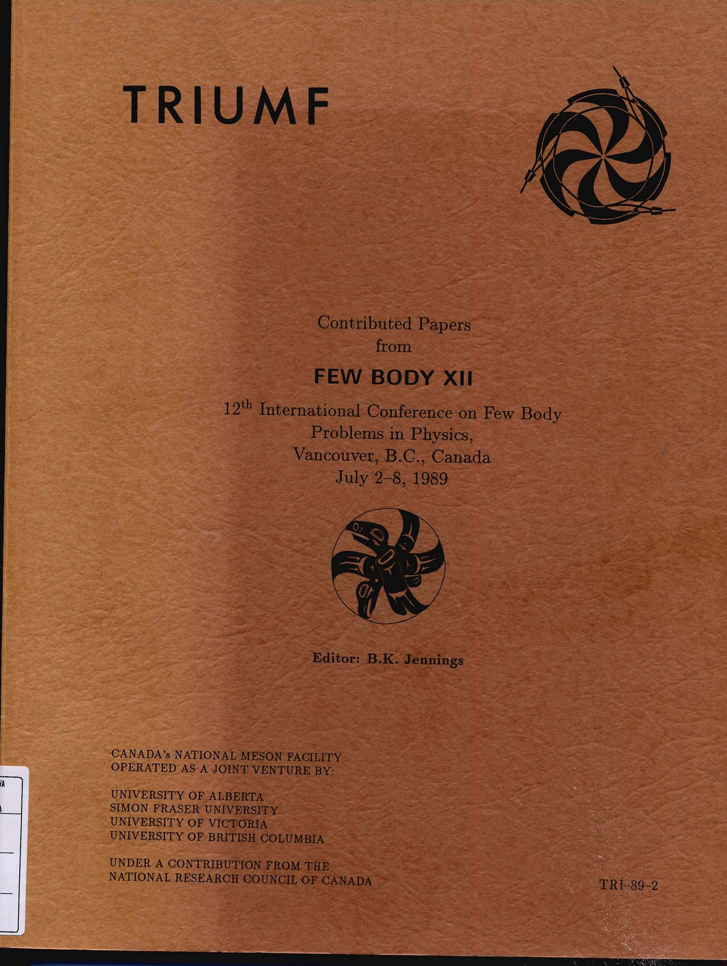 Contributed Papers from Few Body XII