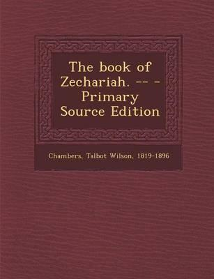 The Book of Zecharia...