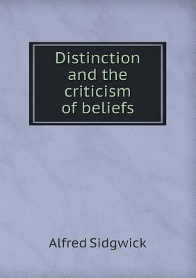 Distinction and the ...