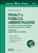Privacy e Pubblica Amministrazione
