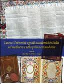 Lauree. Università e gradi accademici in Italia nel medioevo e nella prima età moderna