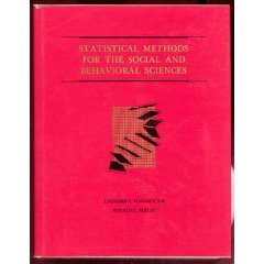 Statistical Methods for the Social and Behavioral Sciences